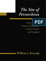 William J. Kennedy, The site of petrarchism. Early modern national sentiment in Italy, France and England (inglés).pdf