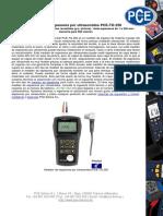 Hoja de datos ultrasonido