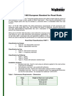 A Guide to IS EN 1463 European Standard for Road Studs