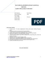 1 Soal Latihan USBN Senbud SMP-MTs