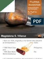 Magdalena Villaruz Filipino Inventor