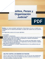 DELITOS, PENAS Y ORGANIZACIÓN JUDICIAL