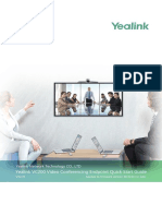 Yealink VC200 Video Conferencing Endpoint Quick Start Guide V32.35