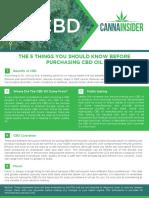5 Things Cbd
