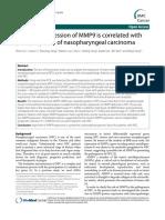 MMP9 Correlates With Poor Prognosis of NPC Pts