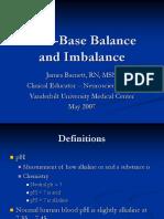 WEB ORIENTATION Acid Base Balance and Imbalance
