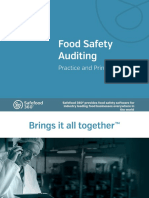 Food Safety Auditing Principles and Practice