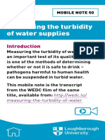 050 Measuring the Turbidity of Water Supplies
