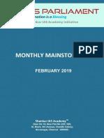 Monthly Mainstorming February 2019 Www.iasparliament.com