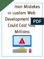 Common Mistakes in Custom Web Development