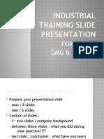 Industrial Training Slide Presentation