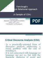 Fairclough CDA Approach