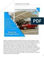 Why Tensile Structure Important for Car Parking