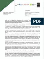 Communiqué interpellation Emmanuel Macron commerces le dimanche
