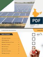 Renewable Energy statistics 2018 India