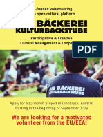 CallforVolunteers Baeckerei Sept2019 Austria