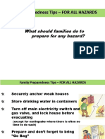 Disaster Preparedness for Family (Philippines)