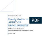 Guide on the Audit of Procurement