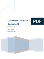 Functional Document Customer Care