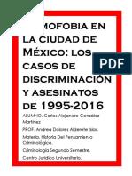 Homofobia en La Ciudad de Meìxico.