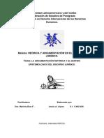 TRABAJO DE RETÓRICA Y EL SENTIDO EPISTEMOLÓGICO DEL DISCURSO JURÍDICO.docx