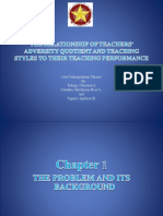 The Relationship of Teacher's Adversity Quotient and Teaching Styles to theirTeaching Performance
