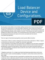 Load Balancer Device and Configurations.