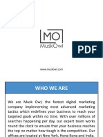 Digital Marketing Company in India - MuskOwl