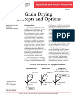Grain Drying Concepts and Options