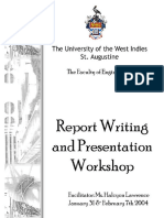 Technical Report Writing and Presentations