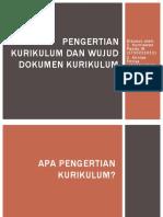 Pengertian Kurikulum Dan Wujud Dokumen Kurikulum