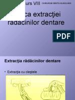 Tehnica extractiei radacinilor dentare