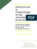 Influencia de la meteorología en las actividades productivas