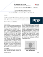 Design and Measurements of Ultra-Wideband Antenna