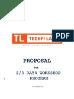 TechFi Labs Workshop Proposal