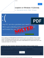 System Service Exception on Windows 10 [Solved] - Driver Easy.pdf
