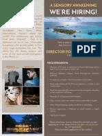 Job Advert - F & B Director
