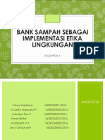 Bank Sampah Sebagai Implementasi Etika Lingkungan