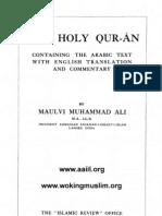 Muhammad Ali English Holy Quran 1917