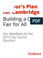 Cambridge Labour City Manifesto 2019