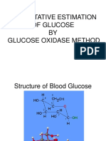 Estimation of Glucose