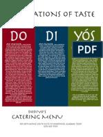 Dodiyo's Catering Menu