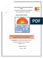 Las Manchas Solares y Su Relacion Con Los Terremotos
