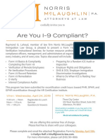 Raymond Lahoud to Provide Form I-9 Training & Compliance Seminar in Allentown, PA
