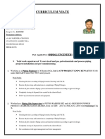 Vijayendra Cv for Piping Engineer