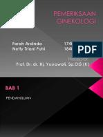 BST Pemeriksaan Ginokologi Farah-Netty