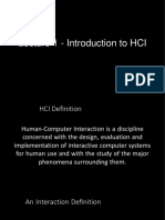 HCI Lecture 01