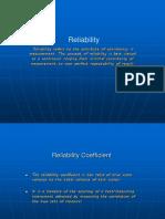 Reliability Ppt Presentation