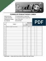 FORMULIR PENDAFTARAN  LOMBA 18.docx