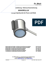 Foco Auxiliar - Dr. Mach Makrolux - Bedienungsanleitung 0